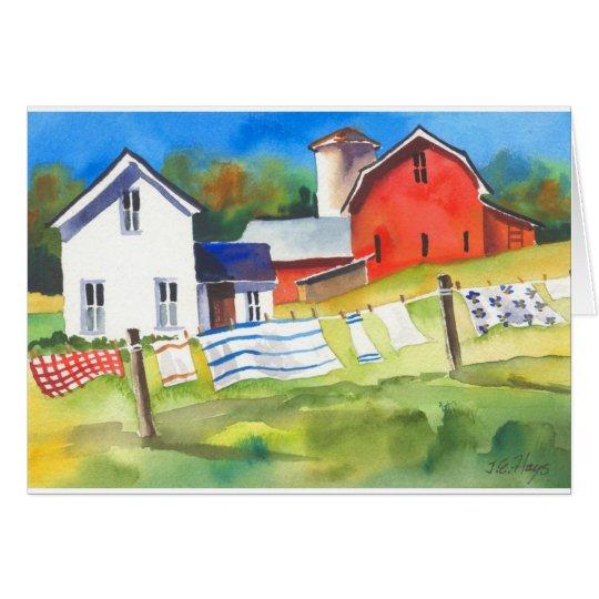 Washday on the Farm Card