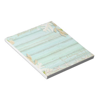 Washed Antique Look Wood with Leaves Notepad