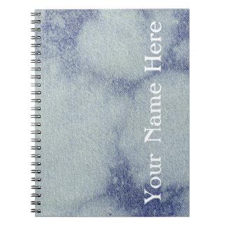 Washed Denim Design #1 @ Emporio Moffa Spiral Notebooks