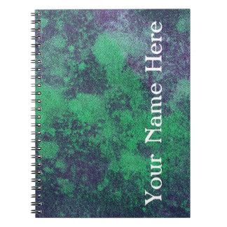 Washed Denim Design #2 @ Emporio Moffa Spiral Notebook