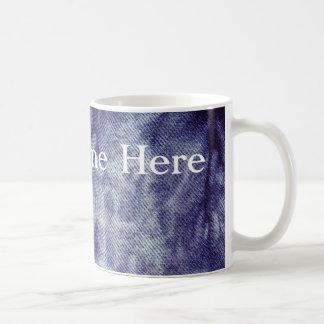 Washed Denim Design #6 at Emporio Moffa Basic White Mug