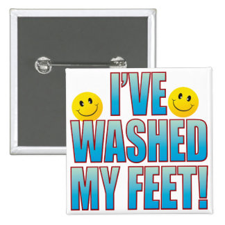 Washed Feet Life B 15 Cm Square Badge