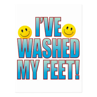 Washed Feet Life B Postcard