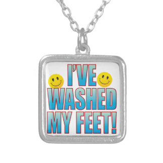 Washed Feet Life B Silver Plated Necklace