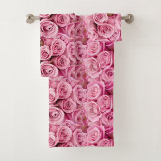 Washed in Pink Roses Bath Towel Set