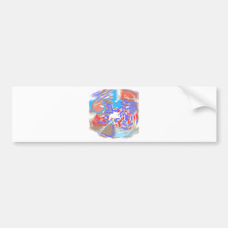 'Washed Out and Faded  designs Bumper Sticker