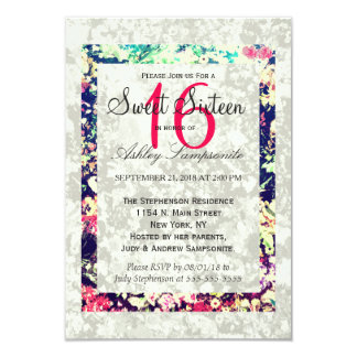 Washed Out & Multicolor Elegant Floral Collage Card