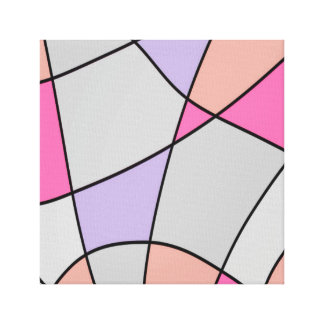 Washed Pastel Squares Abstract Canvas Print