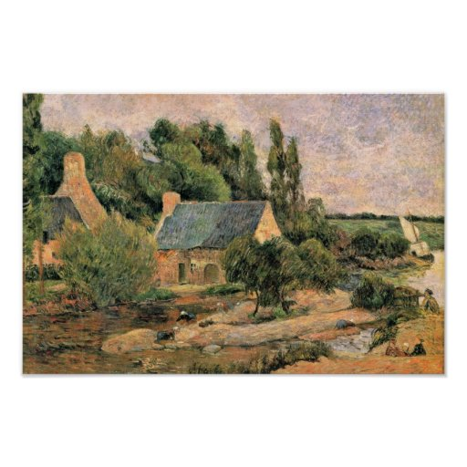 Washerwomen At Pont-Aven,  By Gauguin Paul Posters