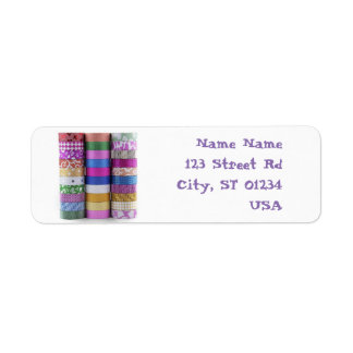washi return address lables return address label