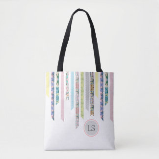 Washi Tape Pastels | DIY & Crafts | Monogram Tote Bag
