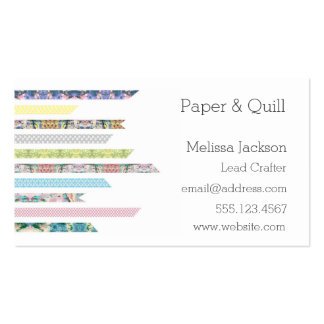 Washi Tape Pastels | DIY & Crafts | Networking Pack Of Standard Business Cards