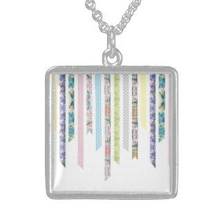 Washi Tape Pastels | DIY & Crafts | Ribbon Strips Sterling Silver Necklace