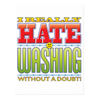 Washing Hate Face Post Card