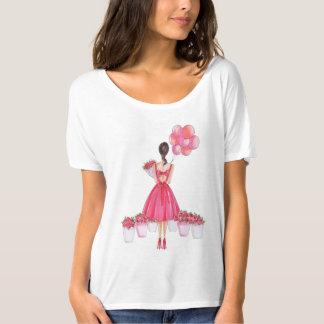 washing in rose tshirt