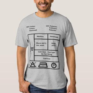 Washing label t shirt