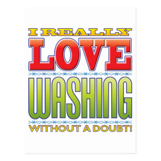 Washing Love Postcard