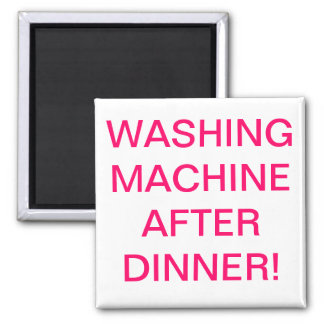 washing machine after dinner square magnet