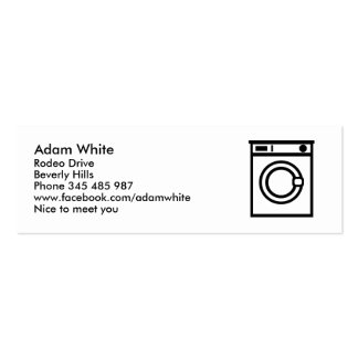 Washing machine business cards