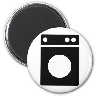 washing machine icon 6 cm round magnet