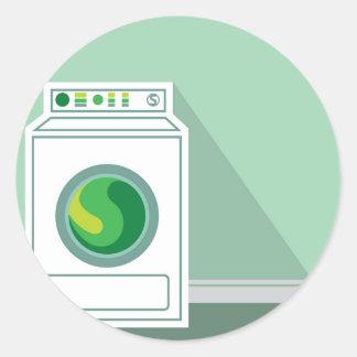 Washing Machine Laundry Room Classic Round Sticker