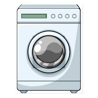 Washing machine postcard