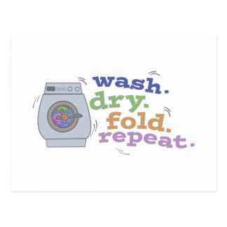 Washing Repeat Postcard