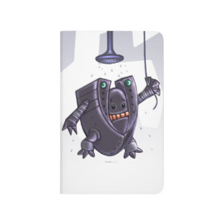 WASHING ROBOT CARTOON Pocket Journal