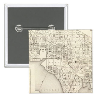 Washington 15 Cm Square Badge