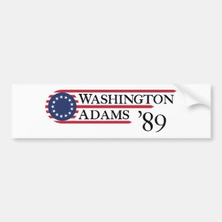 Washington Adams '89 Bumper Sticker