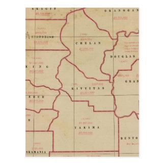 Washington agric, farm values, products, acreages postcard