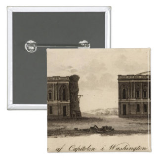 Washington and District of Columbia 15 Cm Square Badge