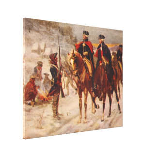 Washington and Lafayette at Valley Forge Canvas Print