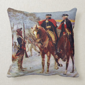 Washington and Lafayette at Valley Forge ~ Cushion