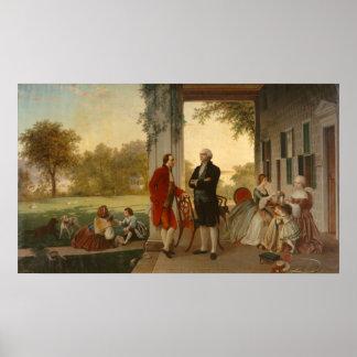 Washington and Lafayette Poster