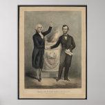 Washington and Lincoln Print