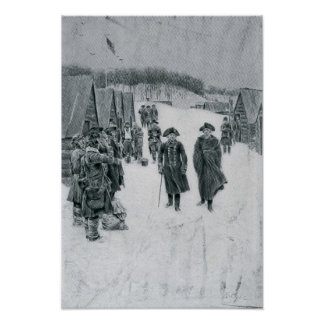 Washington and Steuben at Valley Forge Poster