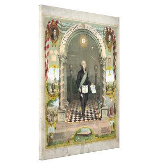 """Washington as  a Freemason"" canvas print"