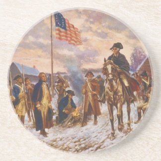 Washington at Valley Forge by Edward P. Moran Coaster