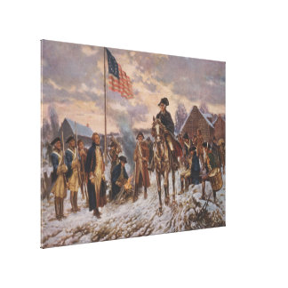 Washington at Valley Forge by Edward Percy Moran Gallery Wrap Canvas