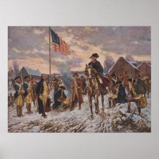 Washington at Valley Forge by Edward Percy Moran Poster