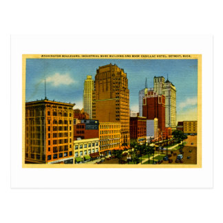 Washington Boulevard, Detroit, Michigan Postcard