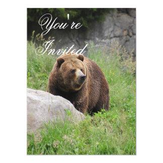 Washington Brown Bear - Party Invitation