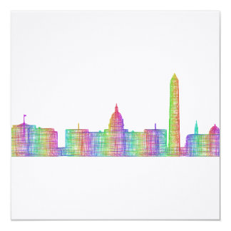 Washington city skyline card