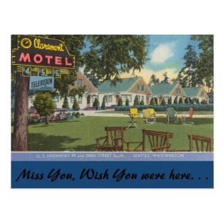 Washington, Claremont Motel, Seattle Post Cards