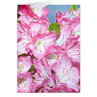 Washington Coast Rhododendron Card