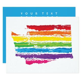 washington color strokes 11 cm x 14 cm invitation card