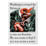 Washington Crossed The Delaware -- WW2 Poster