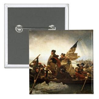 Washington Crossing the Delaware - 1851 15 Cm Square Badge