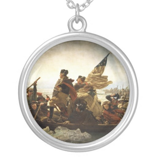 Washington Crossing the Delaware - 1851 Round Pendant Necklace